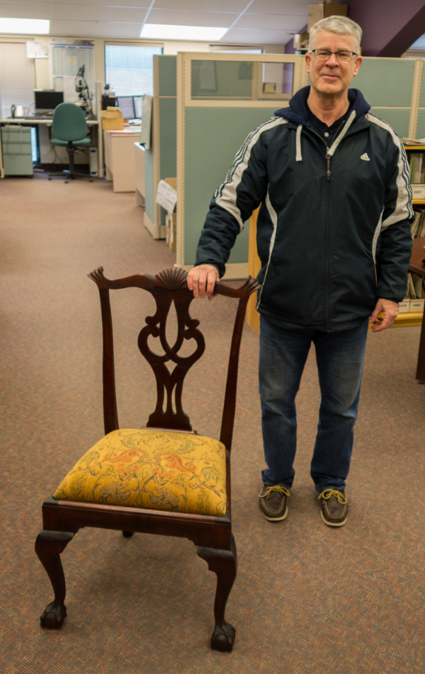 Proud Papa Scott with his chair.