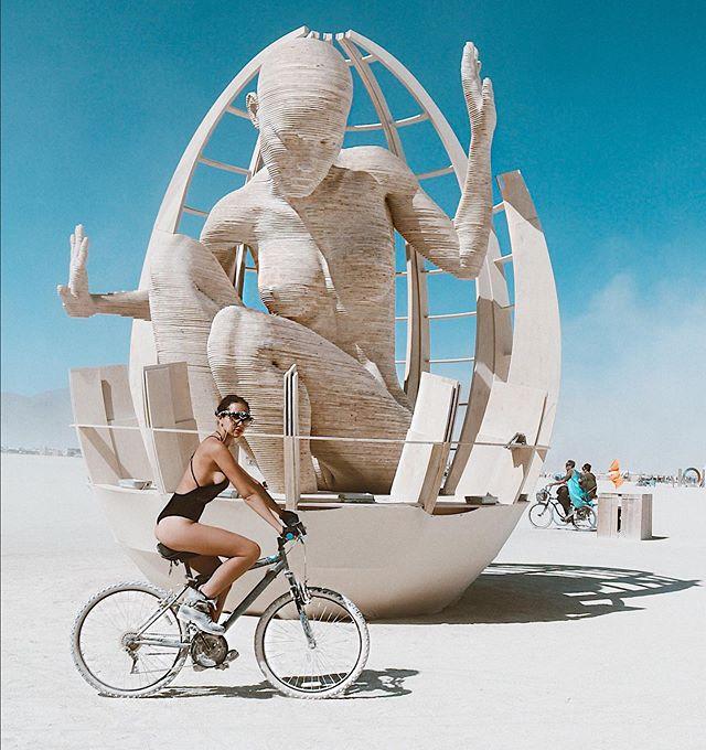 I feel like I've completed 20 advanced Soul Cycle classes in 4 days biking around the Black Rock City! 🚴🏻♀️🚴🏻♀️🚴🏻♀️