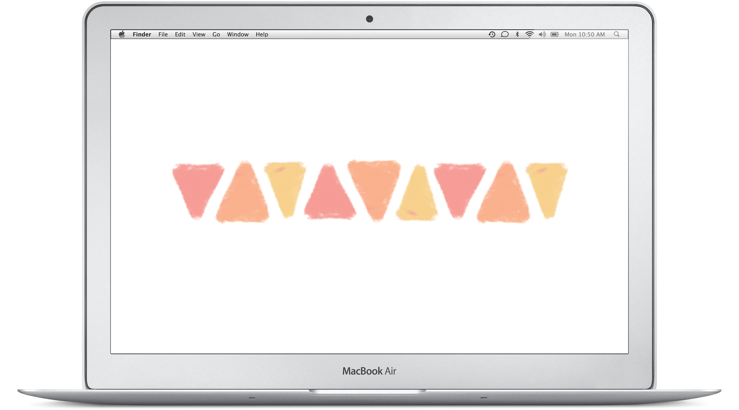 triangles desktop background by everglow handmade