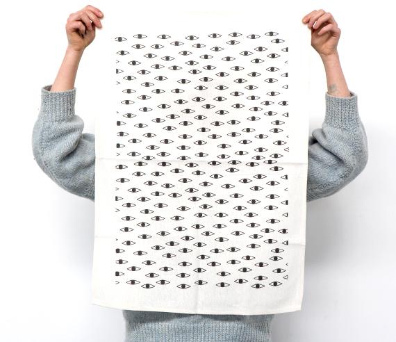 min pin design interview by everglow handmade jesse eyesenberg tea towel
