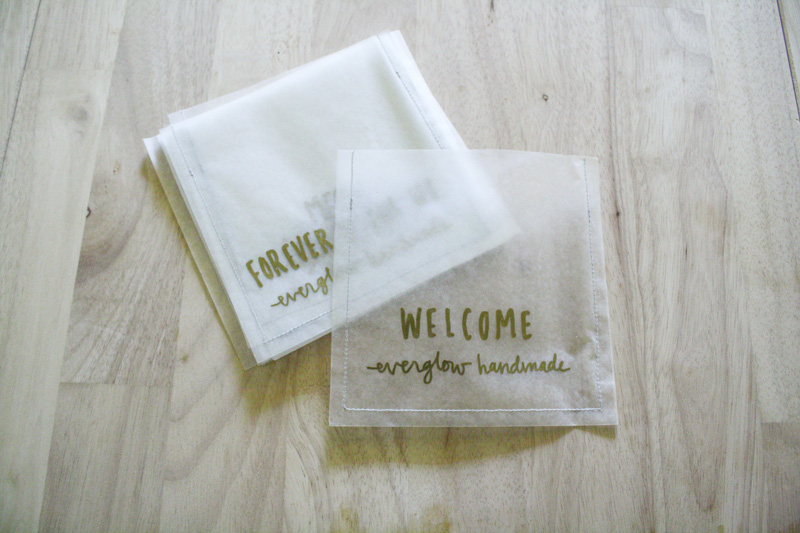banner bags by everglow handmade