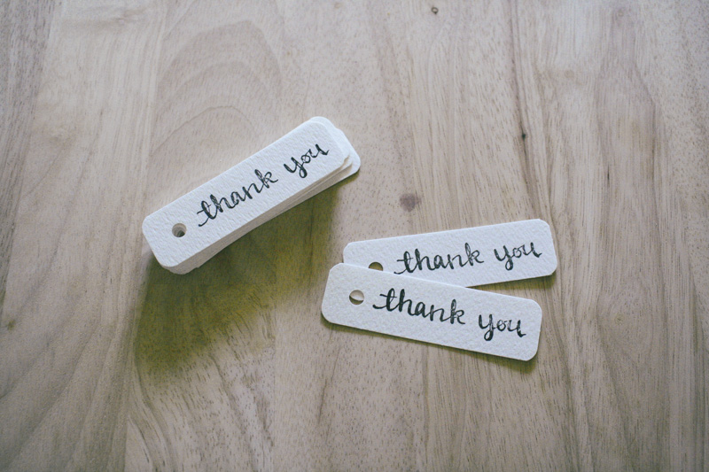 thank you tags by everglow handmade