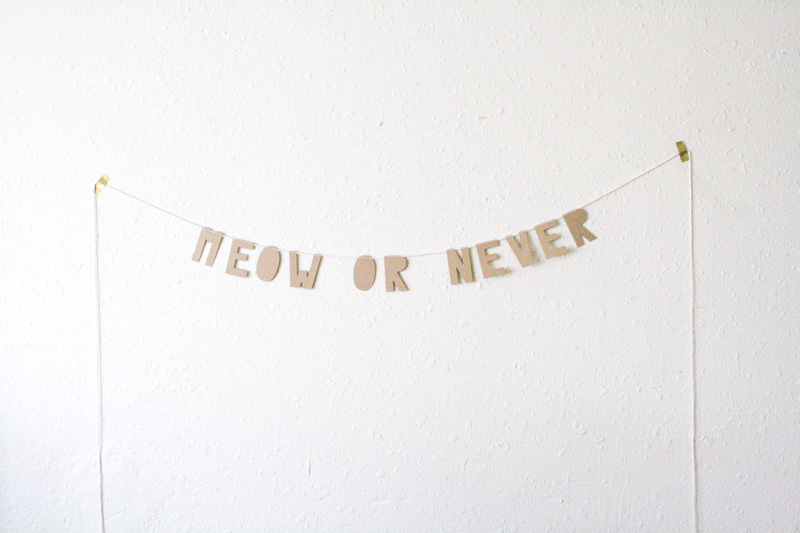 meow or never kraft paper banner by everglow handmade