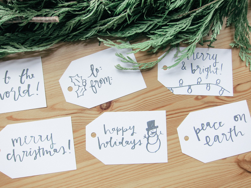 christmas gift tags by everglow handmade