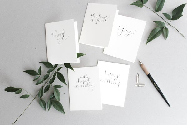 modern calligraphy card