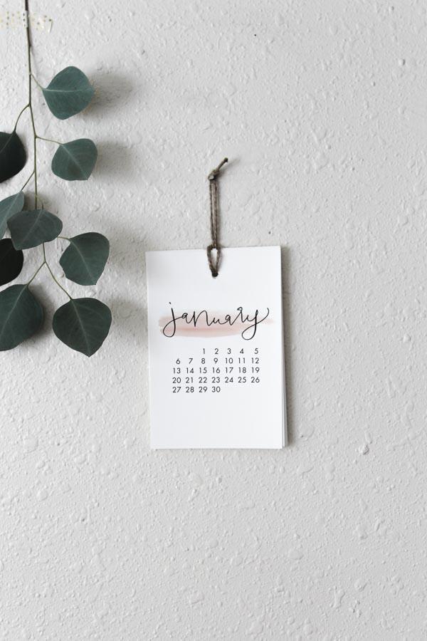 2019 small calligraphy calendar