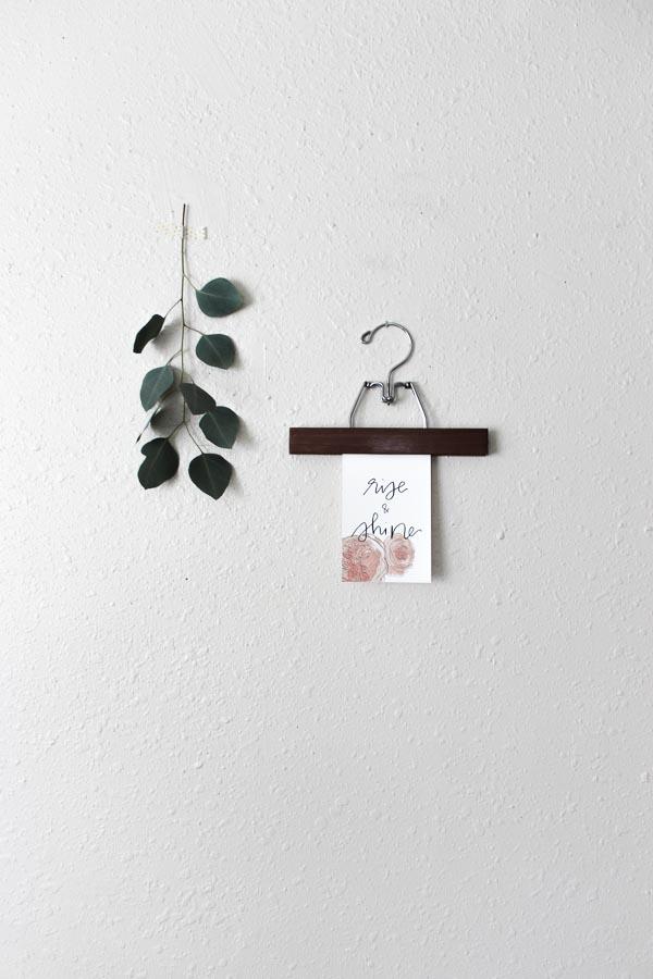 rise & shine  calligraphy print