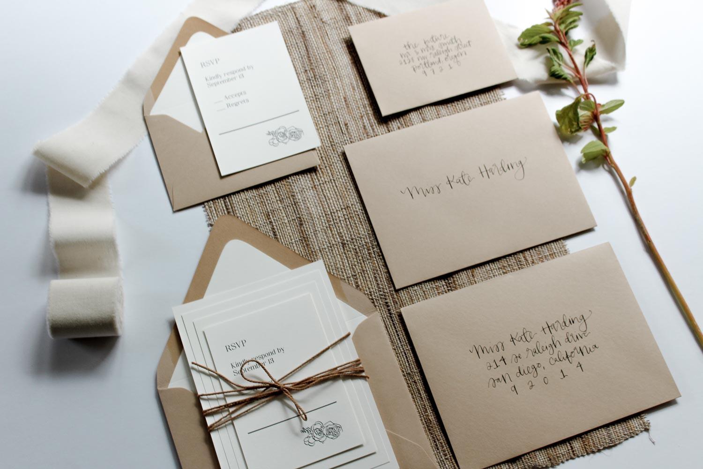 wedding calligraphy suite