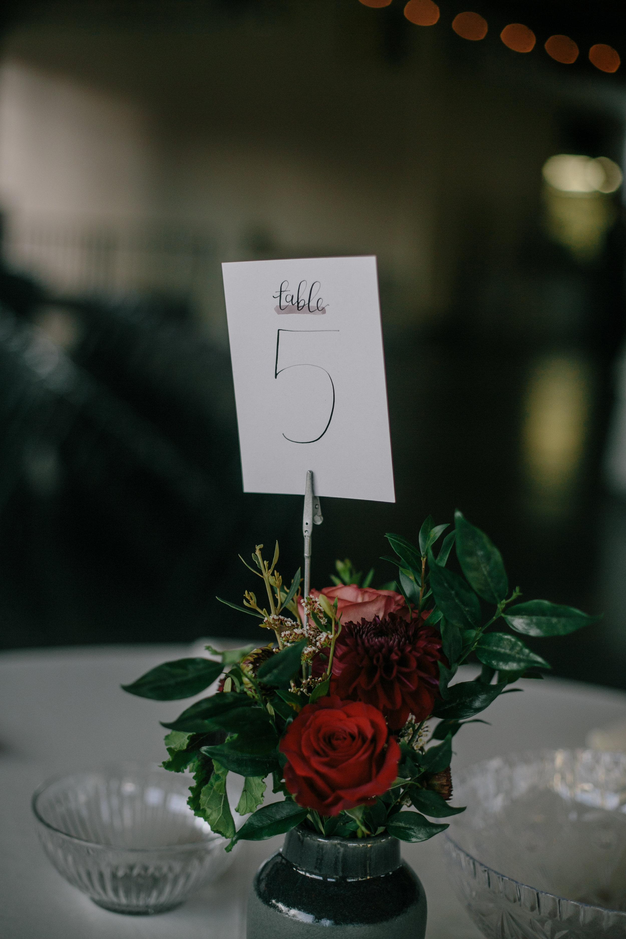 portland wedding calligraphy