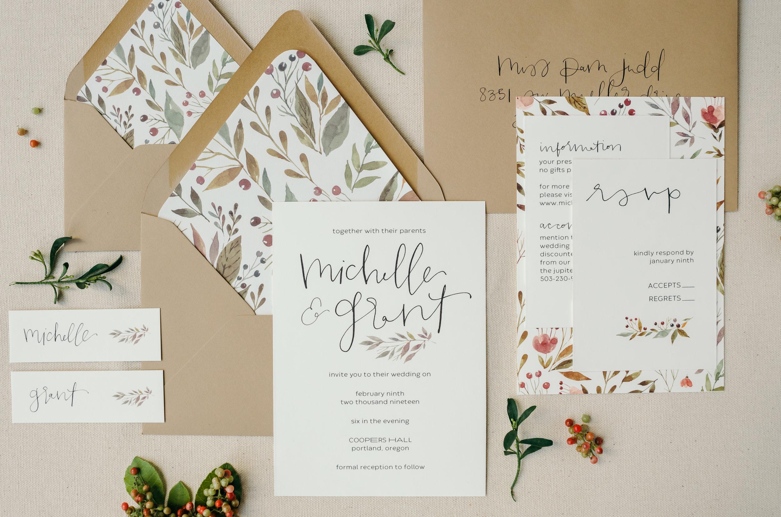 beautiful autumn wedding invitations 12