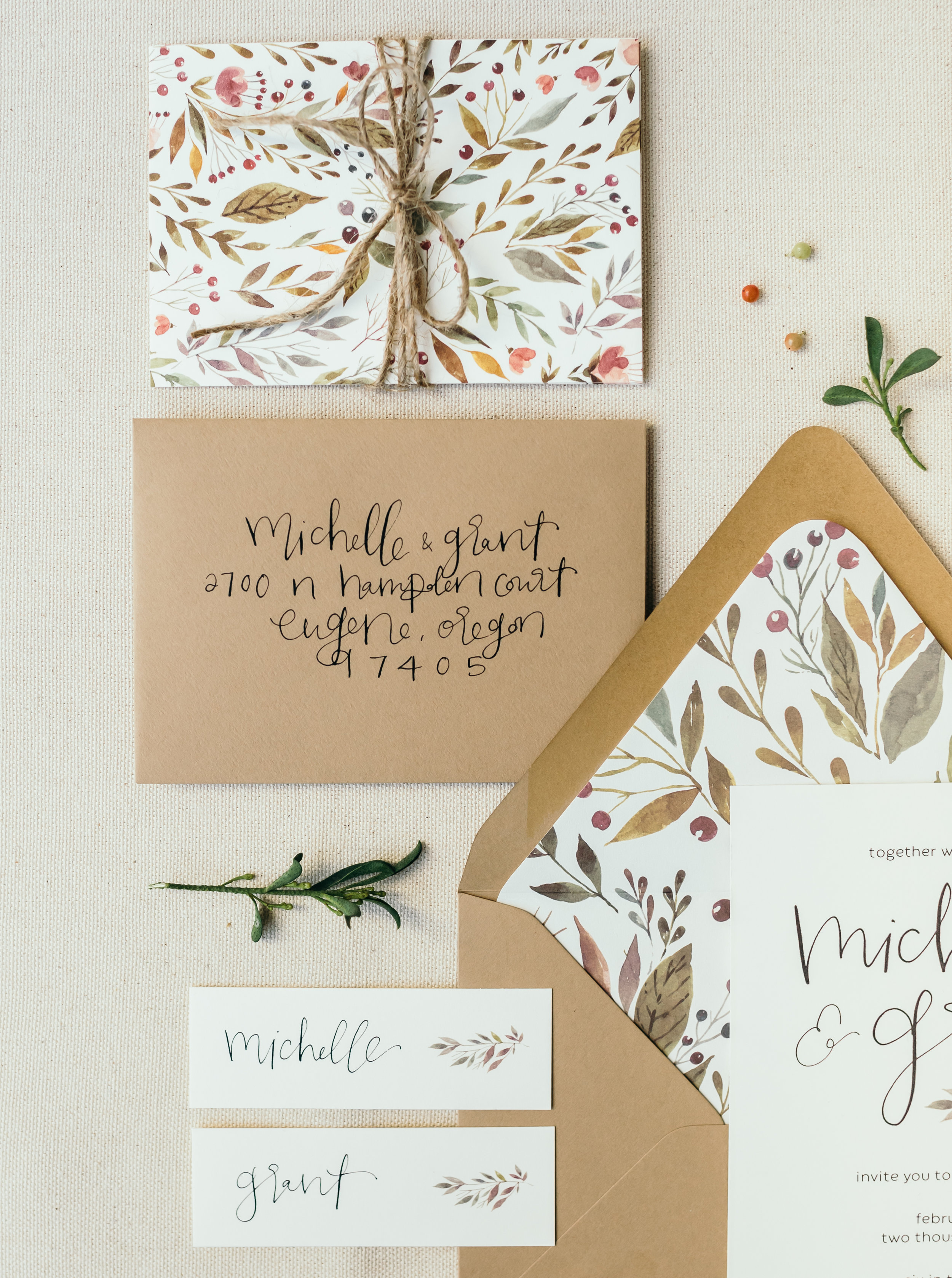 beautiful autumn wedding invitations 8