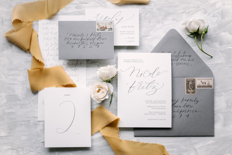 custom calligraphy & wedding invitations in portland, oregon ...