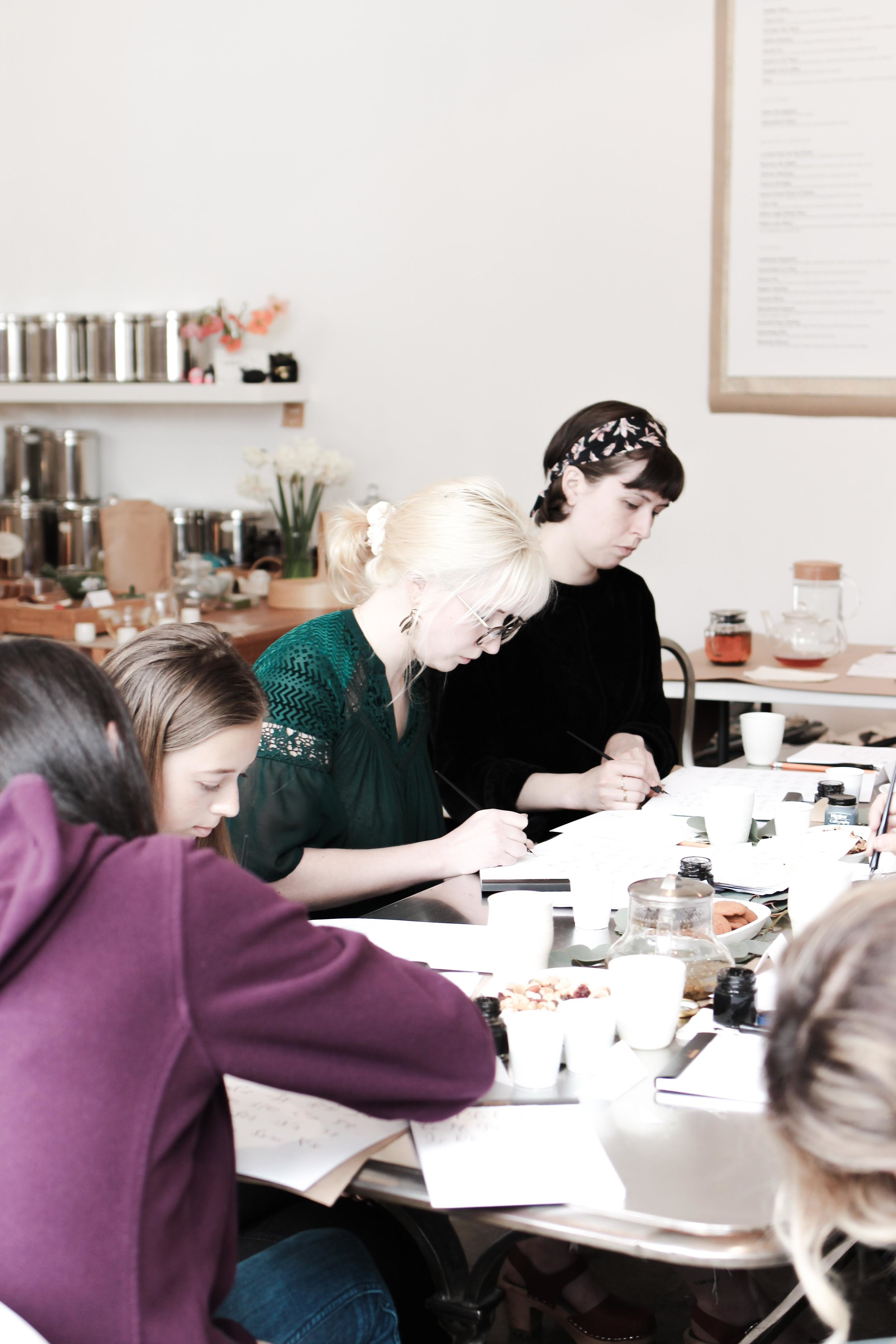 everglow handmade: intro to modern calligraphy workshop at t project