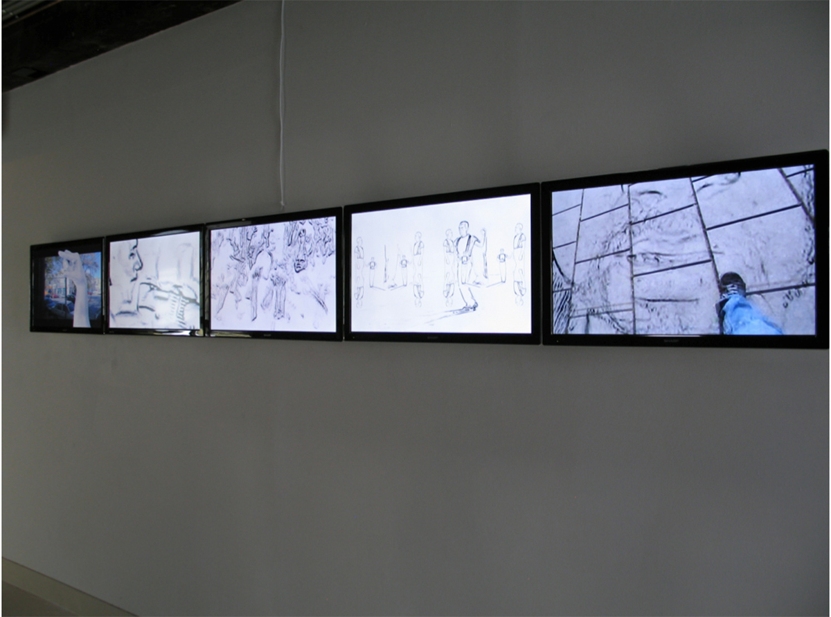 TBMTA installed at  Drift  (2013) exhibition, Articulate Space, Sidney, Australia