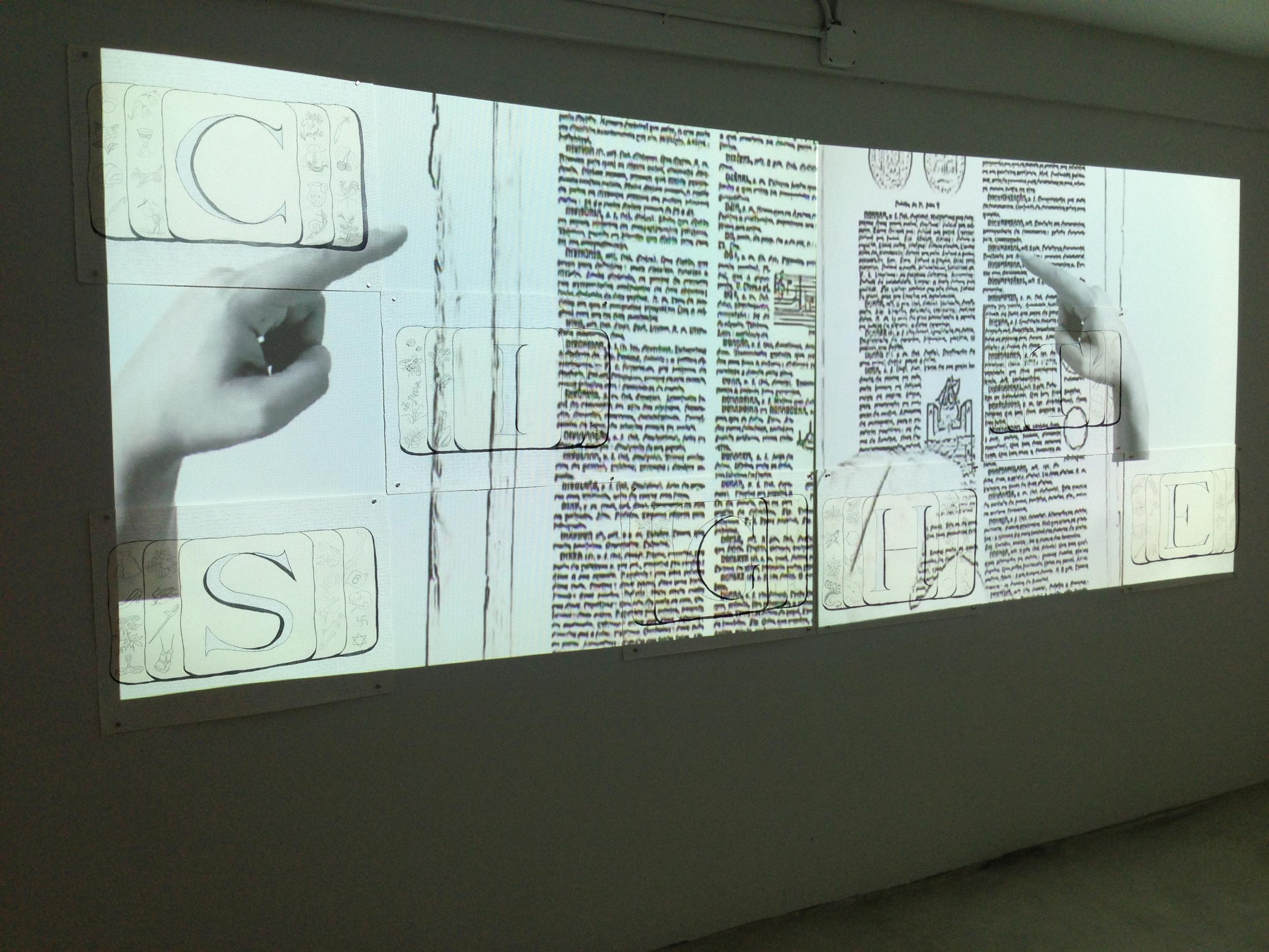 CITE SITE SIGHT installed at  Mi Casa Es Su Casa  (2013)  exhibition at Butter Gallery, Miami, FL, during Basel Week.