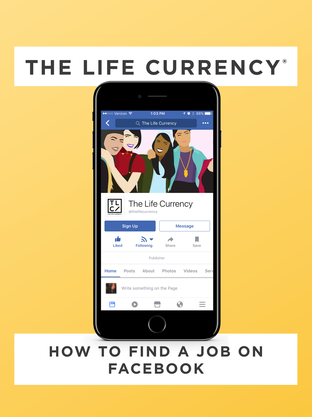 The Life Currency - How to Find a Job on Facebook