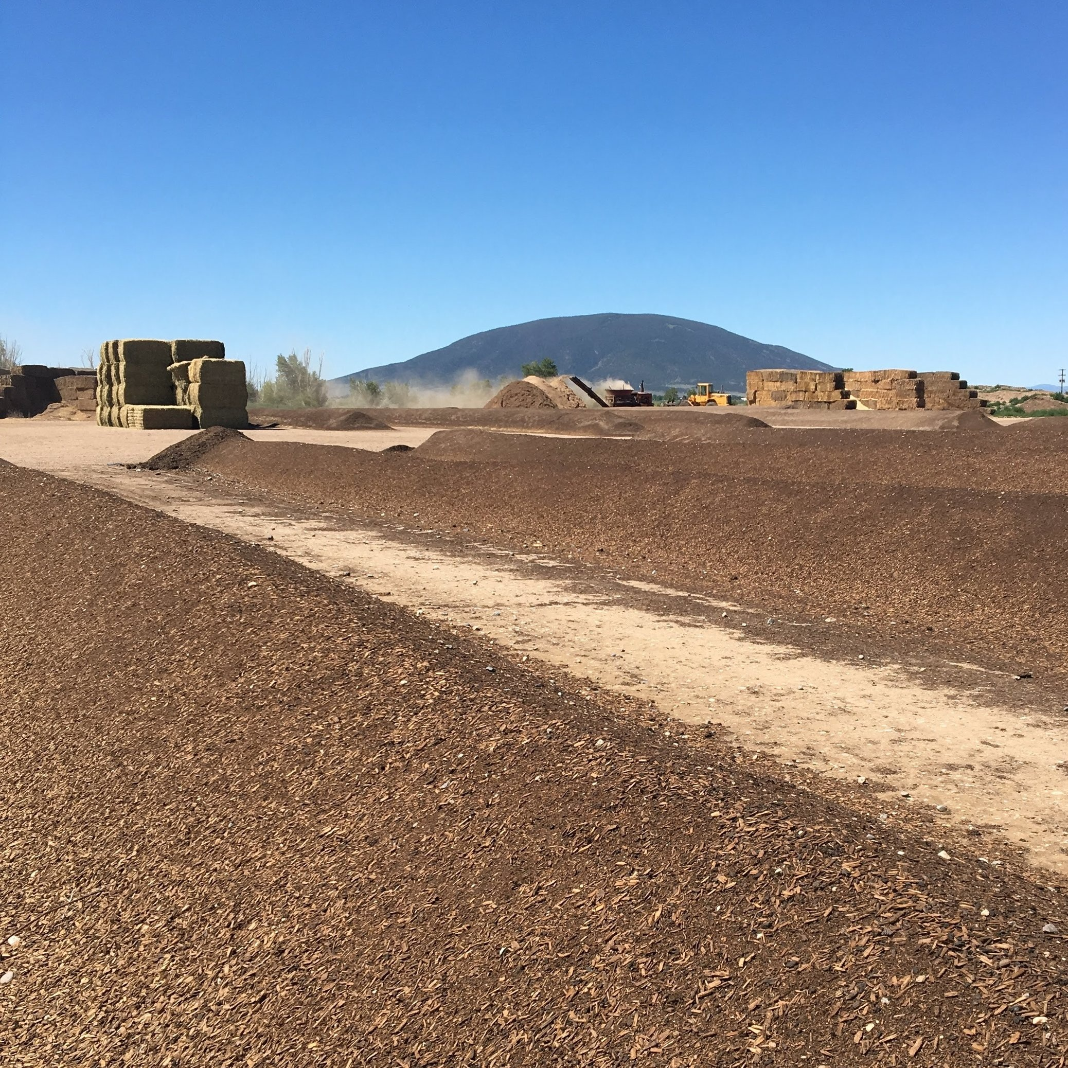 Commercial compost is typically made using the windrow method, where water is mixed with wood chips and straw, then mechanically turned. The process uses a lot of diesel fuel, and the compost has a low microbial and fungal content.