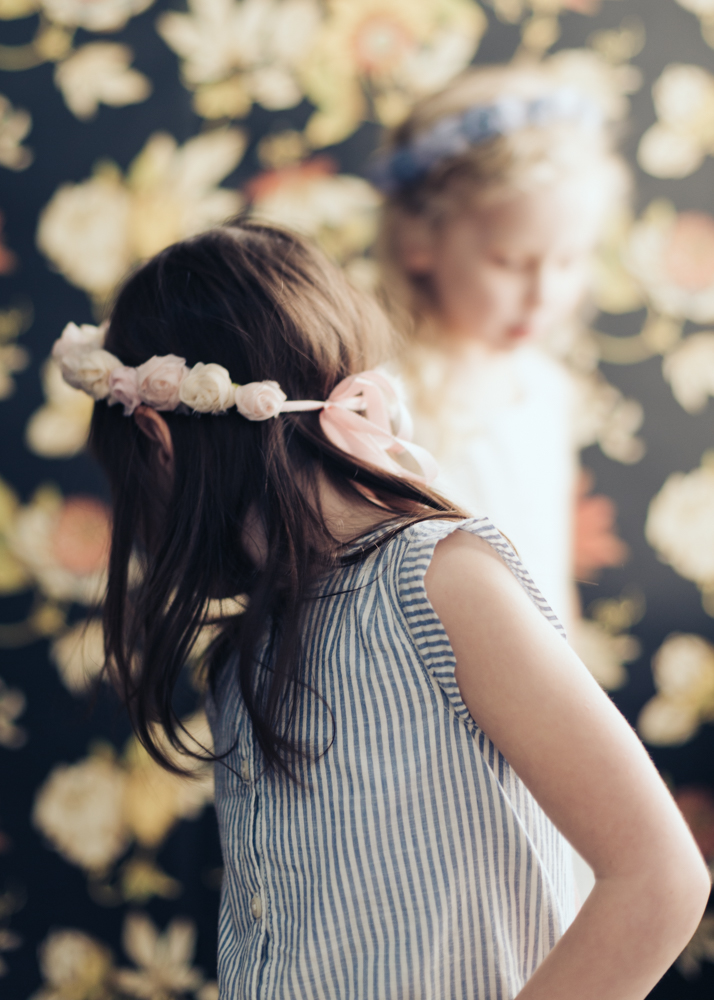 Pink Flower Crown for Kids