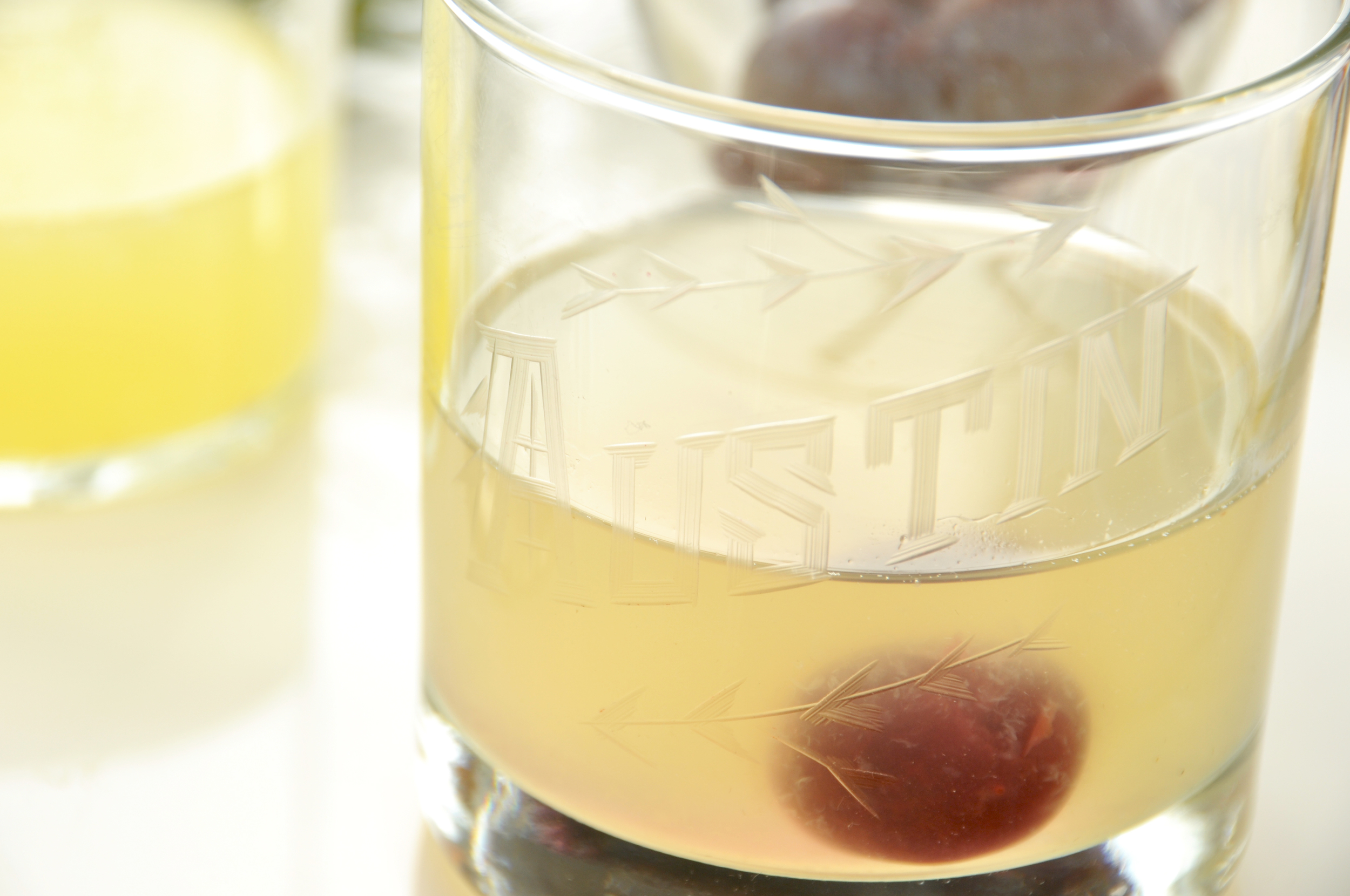 BEE'S KNEES WITH A CHERRY DRINK RECIPE AUSTIN BARWARE