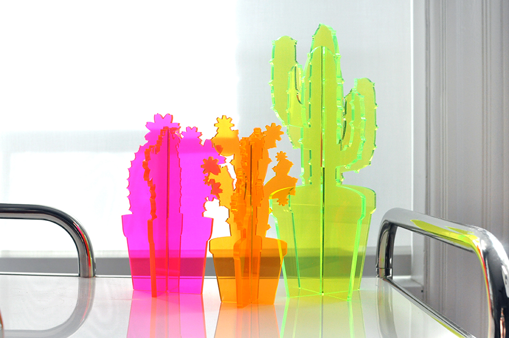 Neon Plexi Cactus Set by Love & Victory