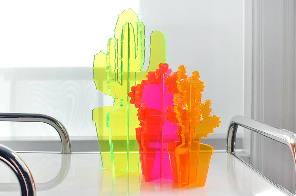 Neon Cactus Set by Love & Victory