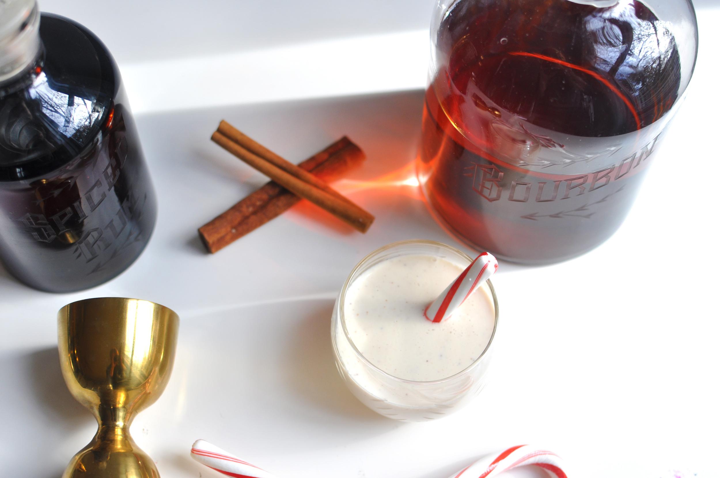 Egg Nog Cocktail Recipe on the Love & Victory Blog
