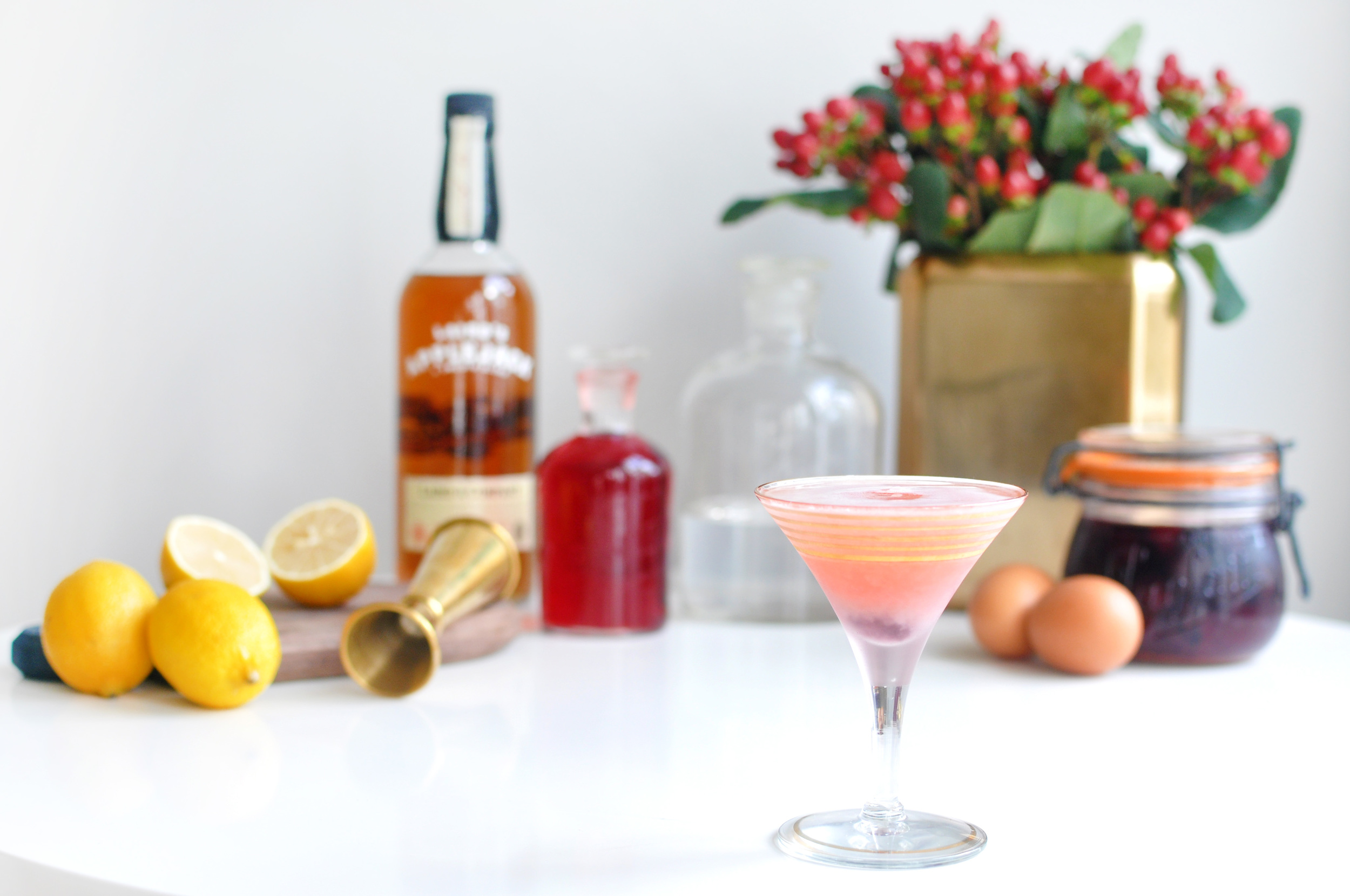 Pink Lady Cocktail Recipe on the Love & Victory Blog