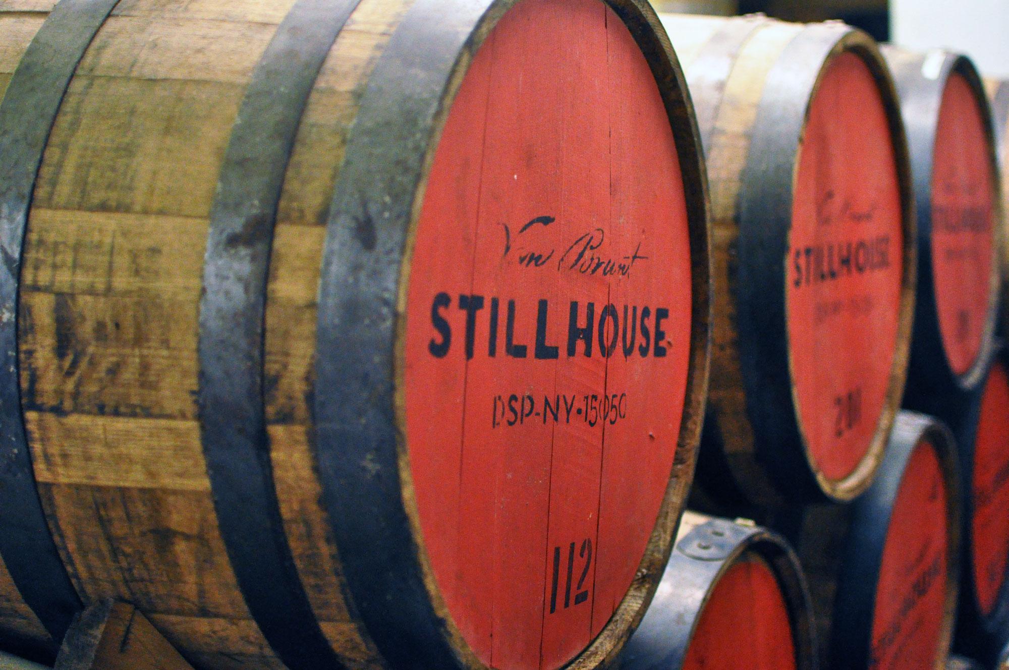 Van Brunt Stillhouse whiskey aging barrels