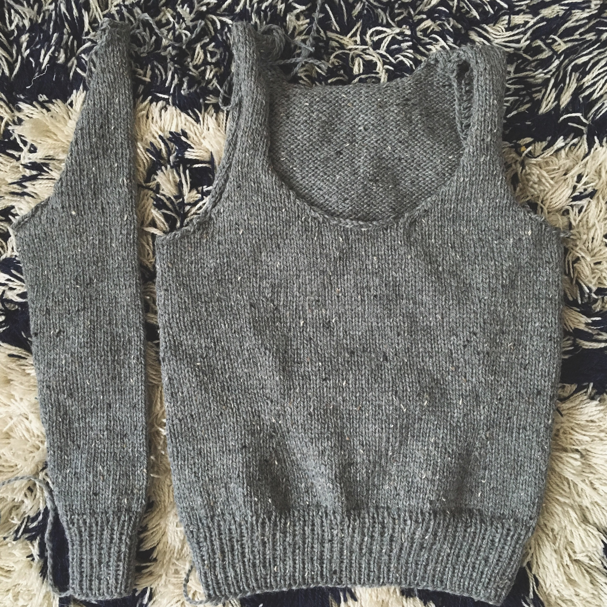 Body and 1 sleeve complete :: Eddy Sweater