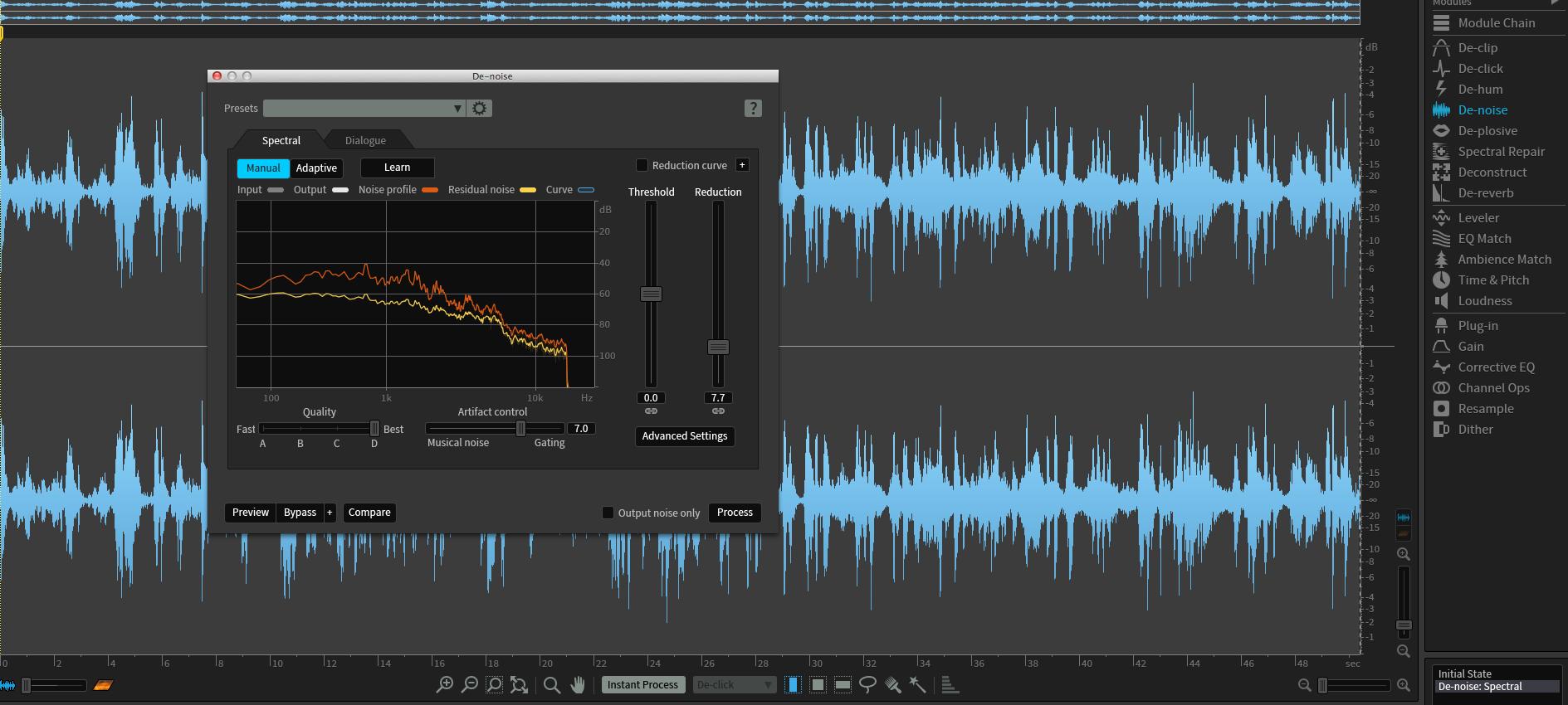 Noise Reduction & Audio Restoration