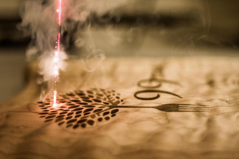 Laser Engraved Grilling block