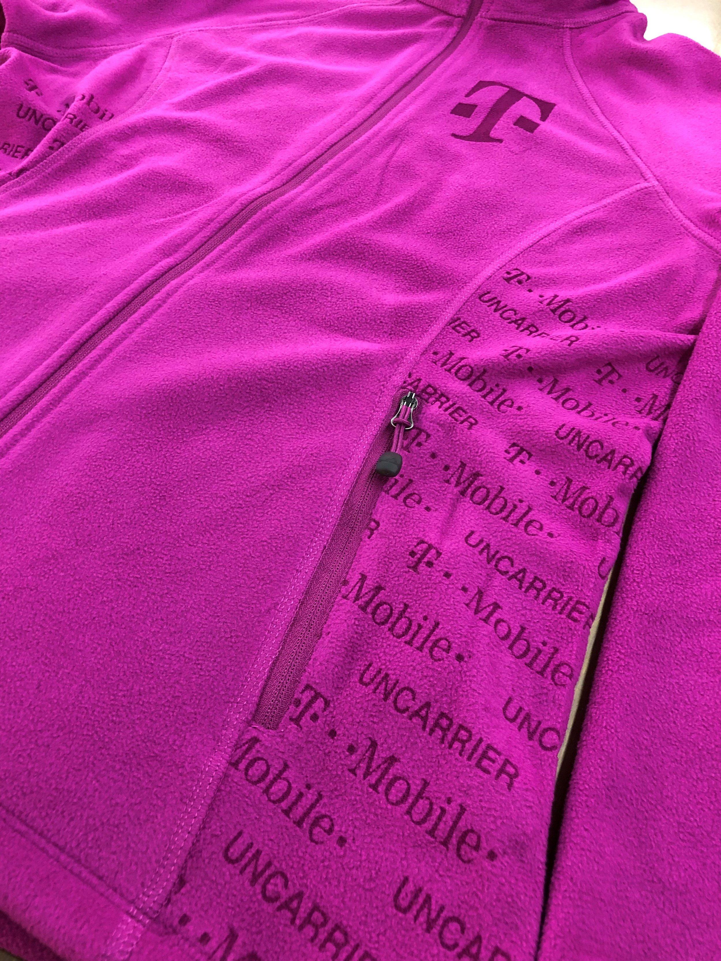 Laser Etched Magenta Fleece Jacket for T-Mobile