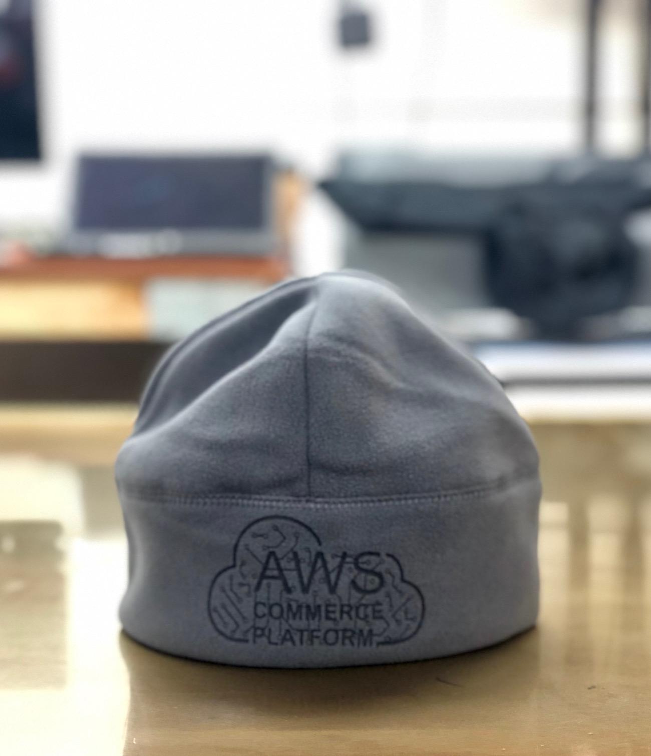 Laser Etched Fleece Beanie for Amazon AWS