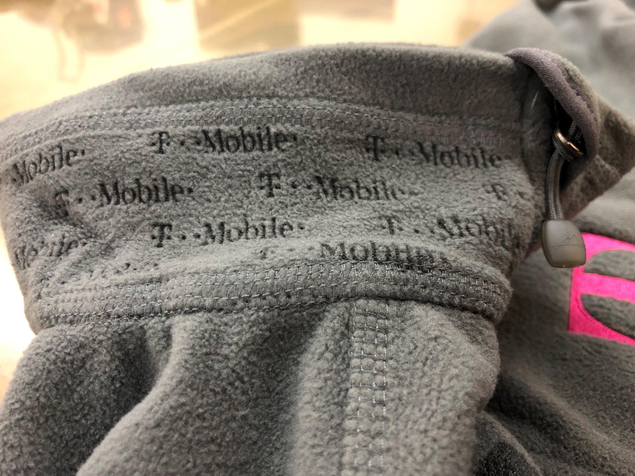 Laser Etched Collar on Fleece Jacket for T-Mobile