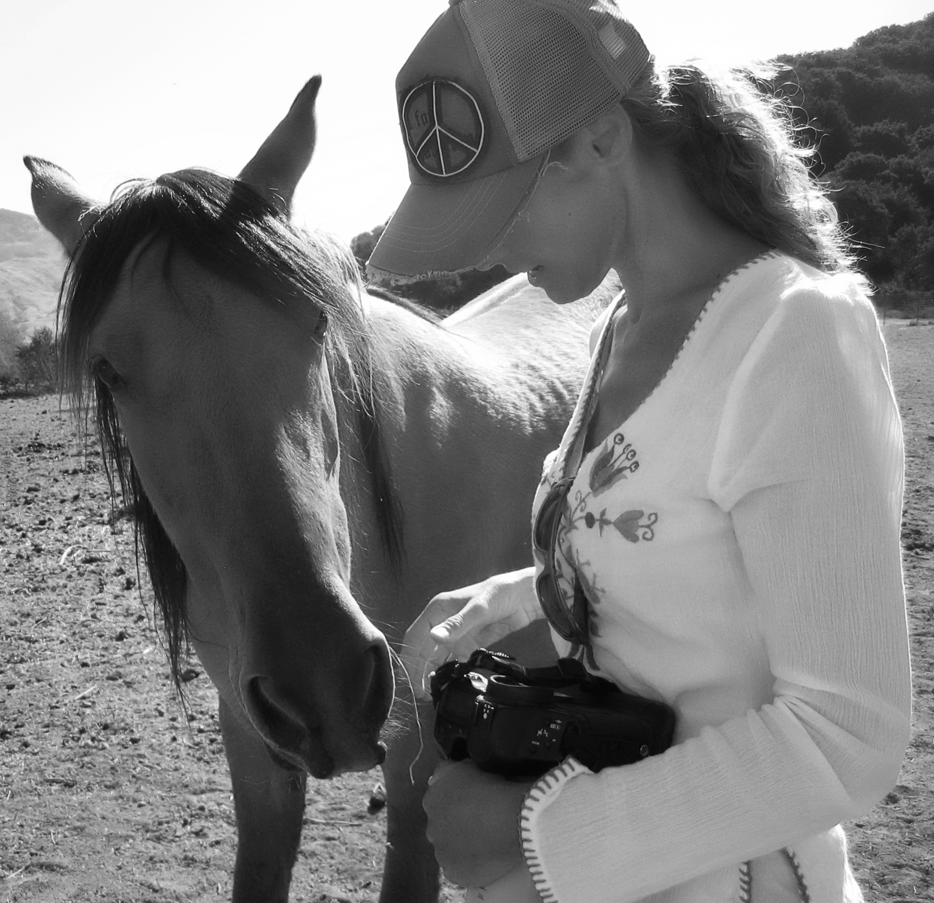 Special Moment with a Wild Mare