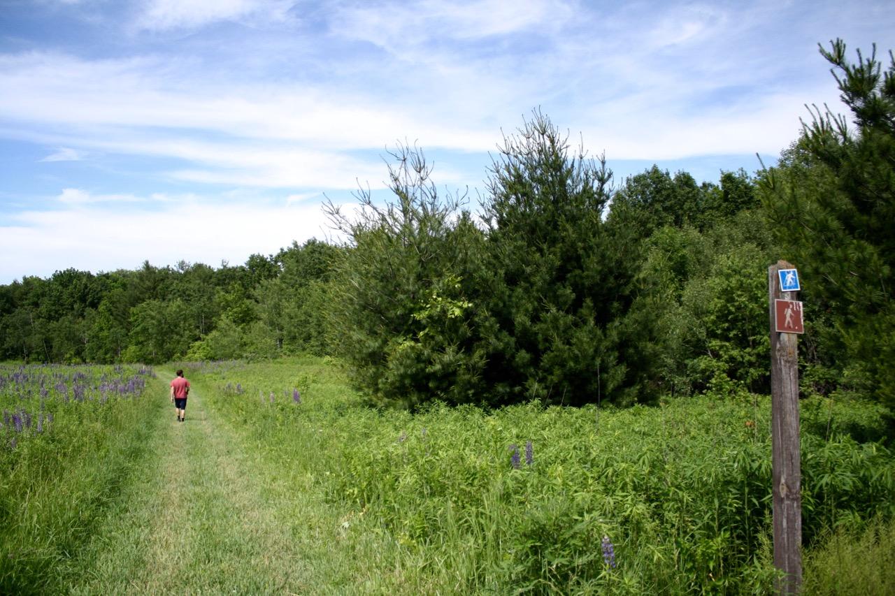 Hiking sign,Governor Dodge State Park