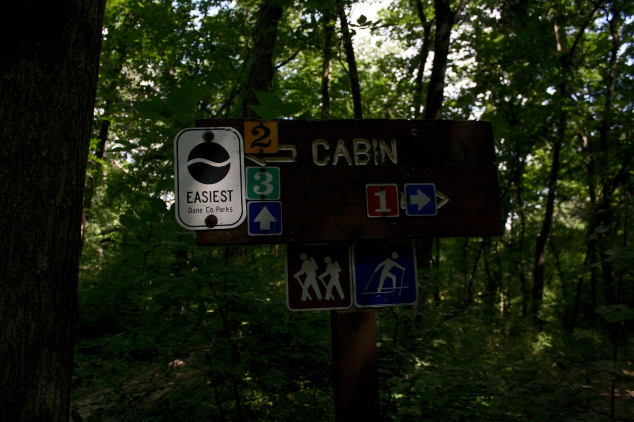 Sign along the trail system