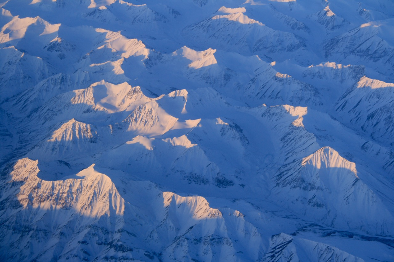 Endless mountains and snow