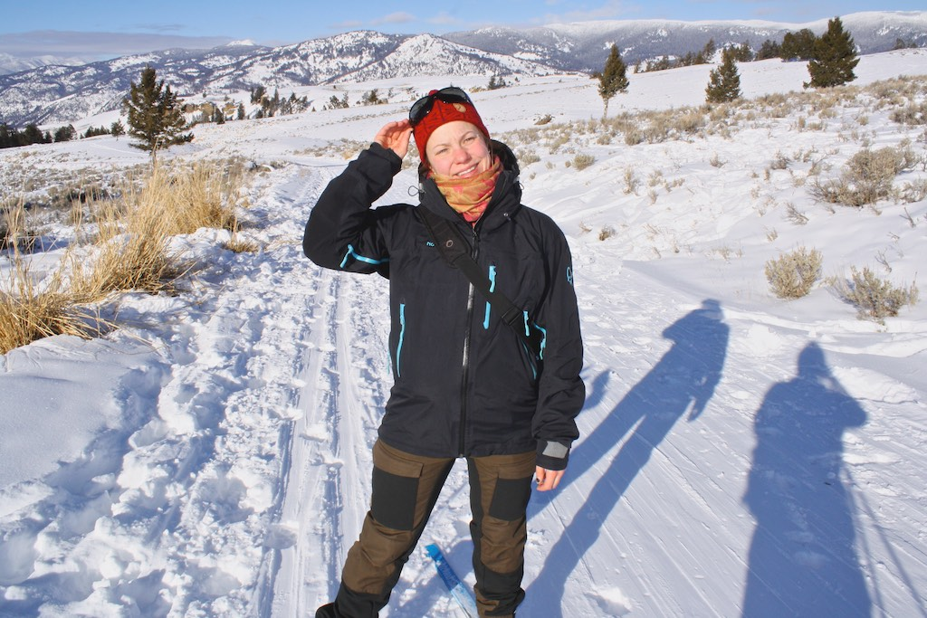 Cross-country skiing in Yellowstone National Park