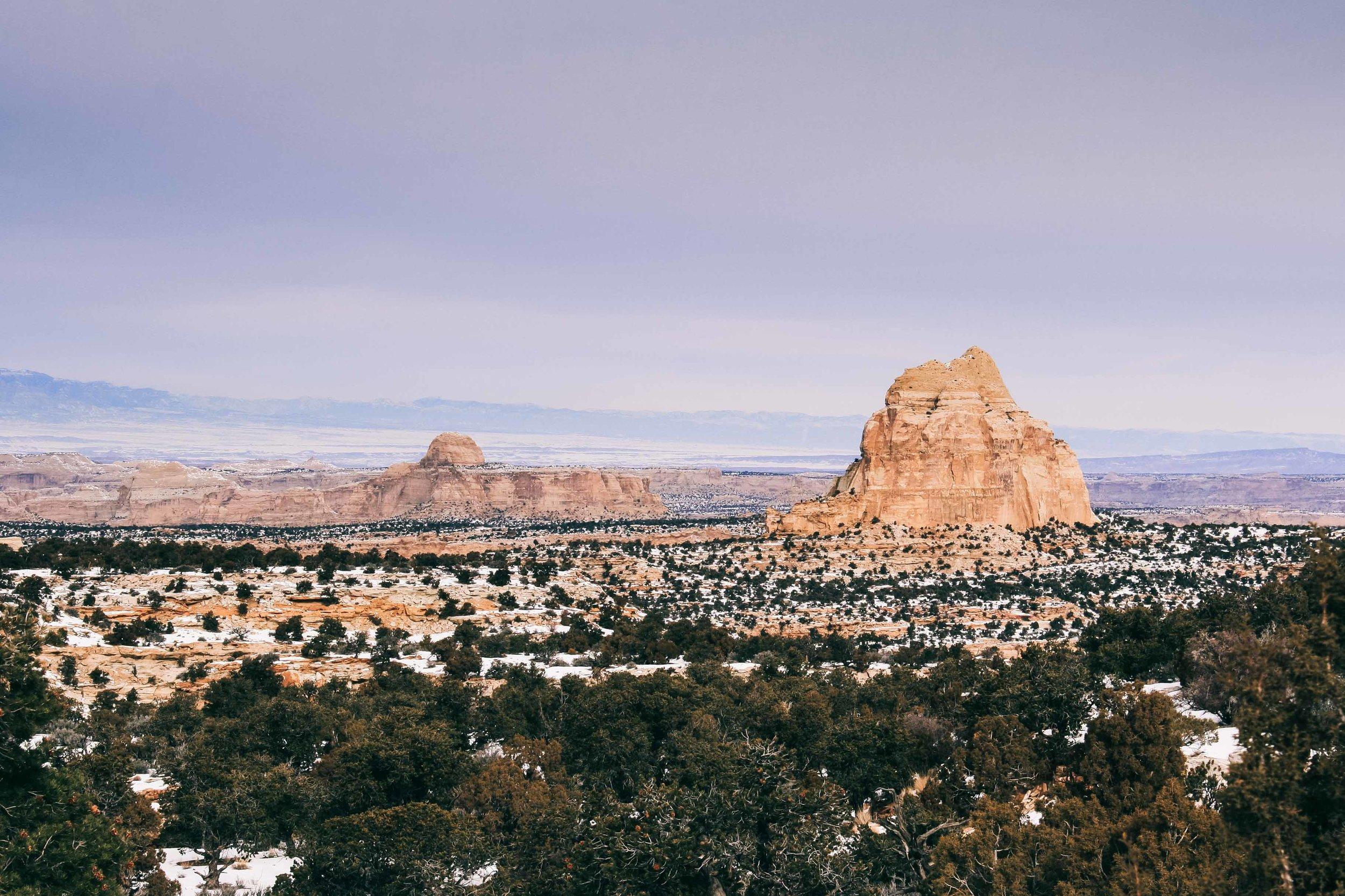 The Badlands and San Rafael Canyon, Utah. January 2013
