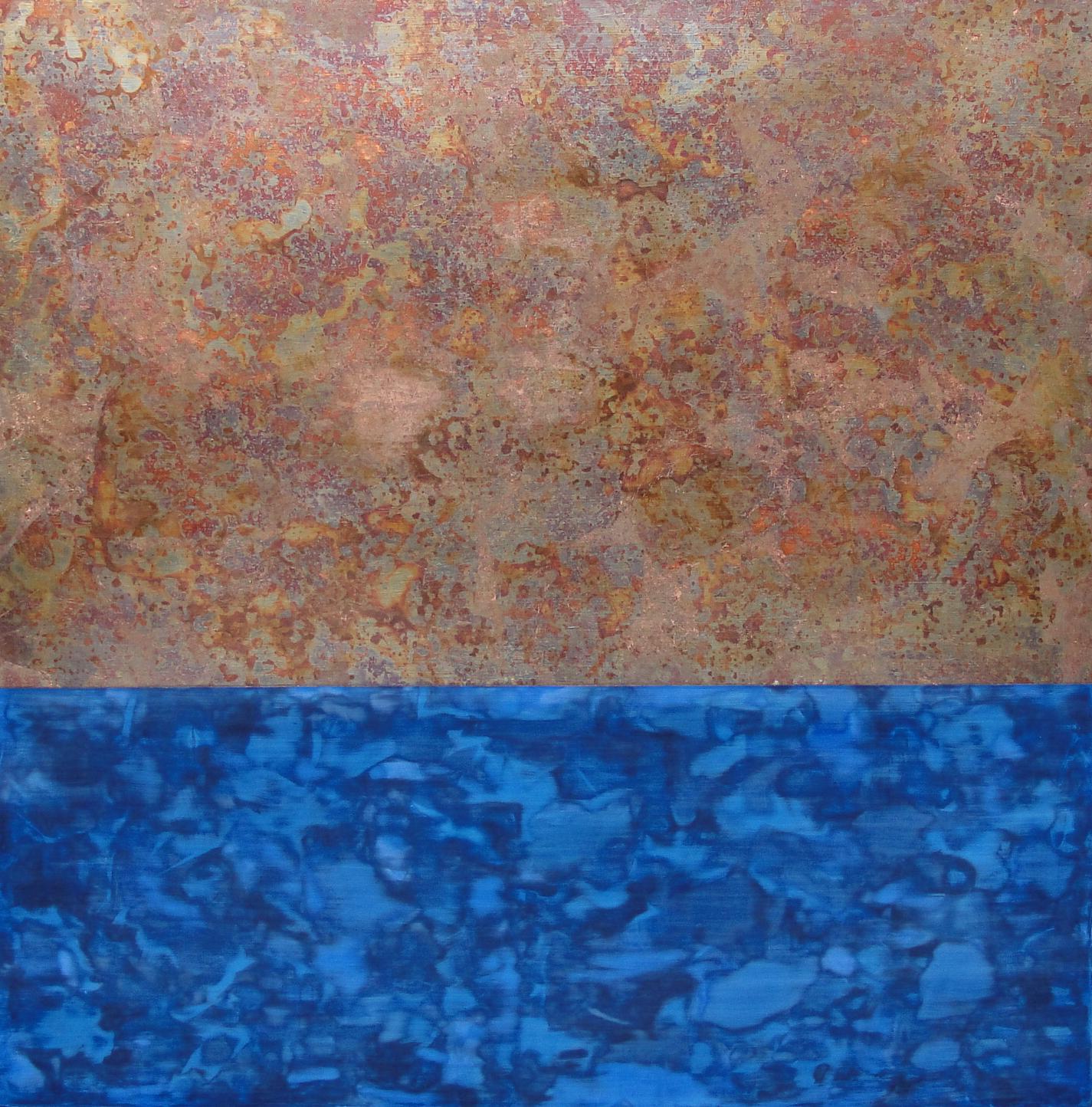 Blue and Copper Square