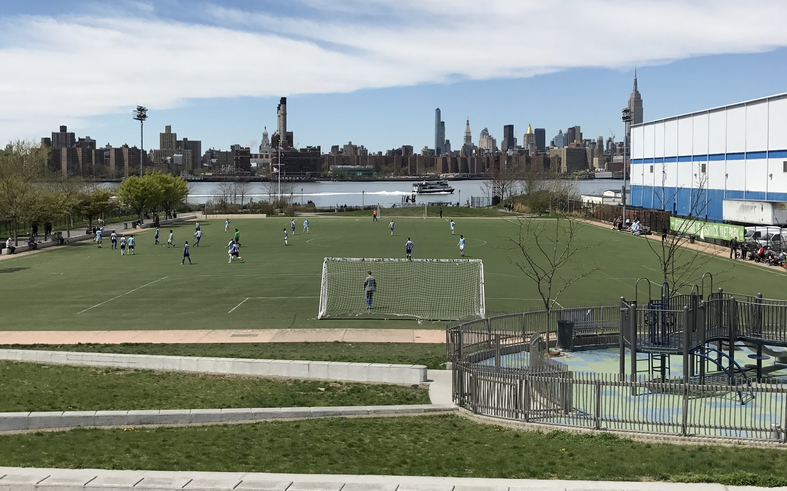 Kickers Reserves battle Stal Mielec Reserves at Bushwick Inlet Park