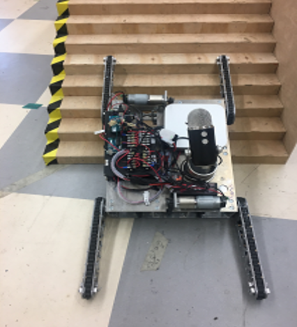 FIG 2.  the robotic platform engages in stair-climbing behavior