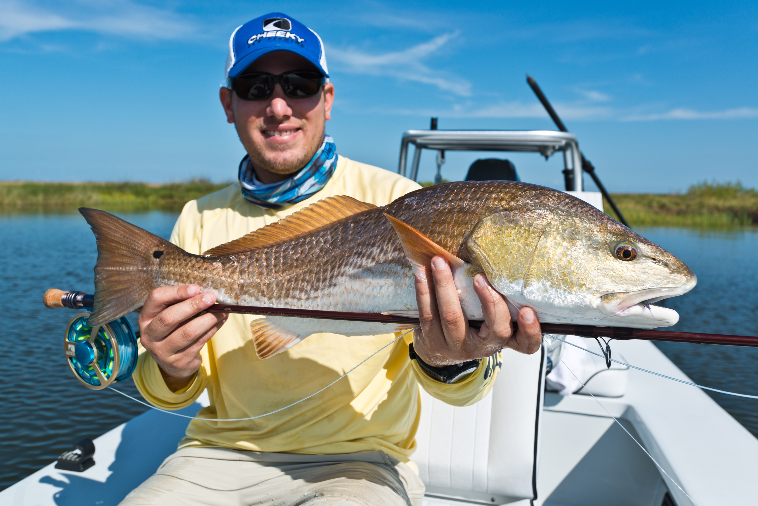Fly Fishing Redfish New Orleans Louisiana Marsh 10
