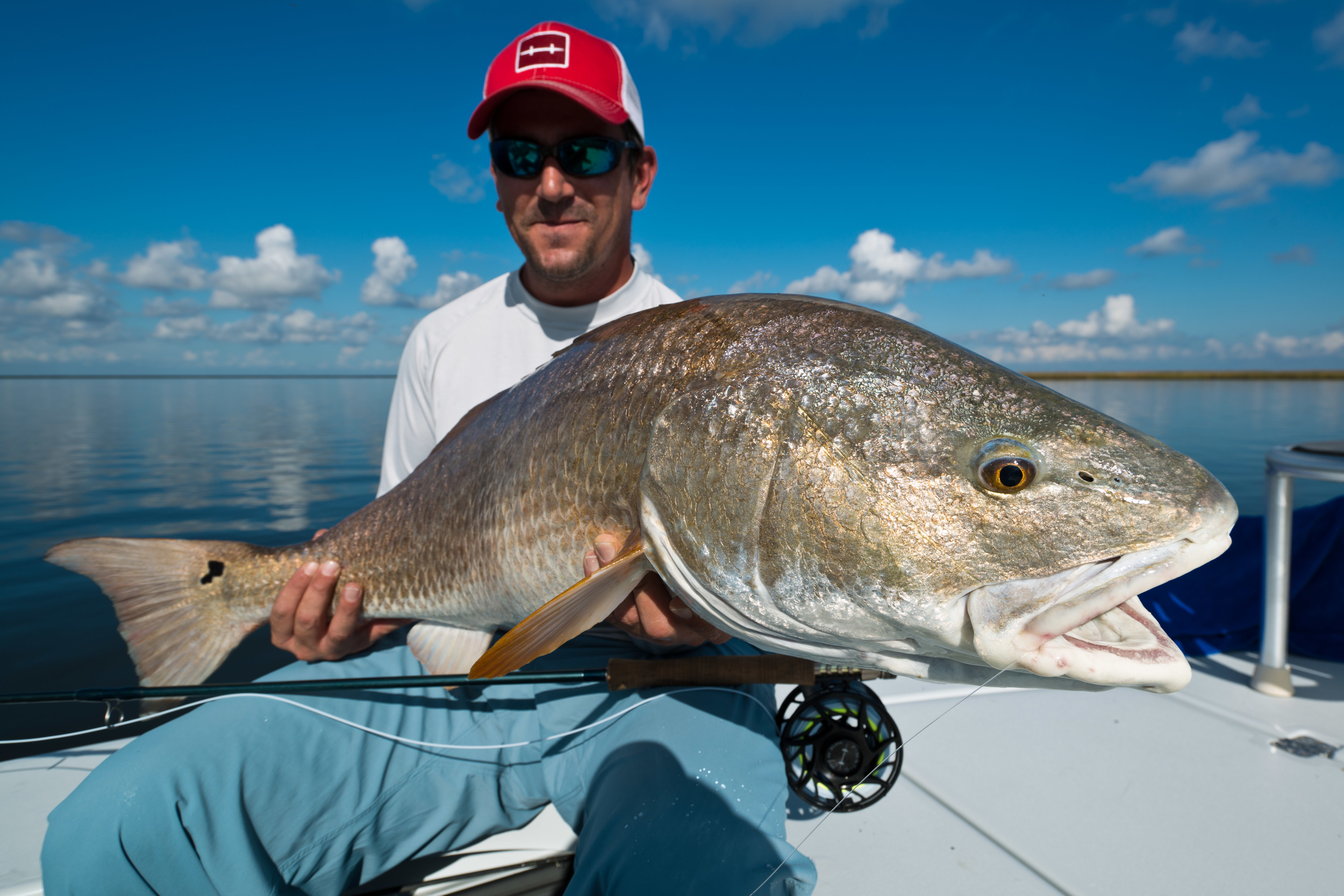 Fly Fishing Redfish New Orleans Louisiana Marsh 9