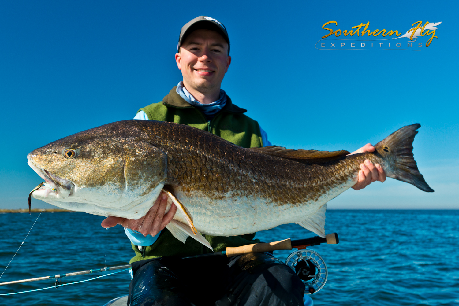 Fly Fishing for Giant Redfish with Captain Brandon Keck