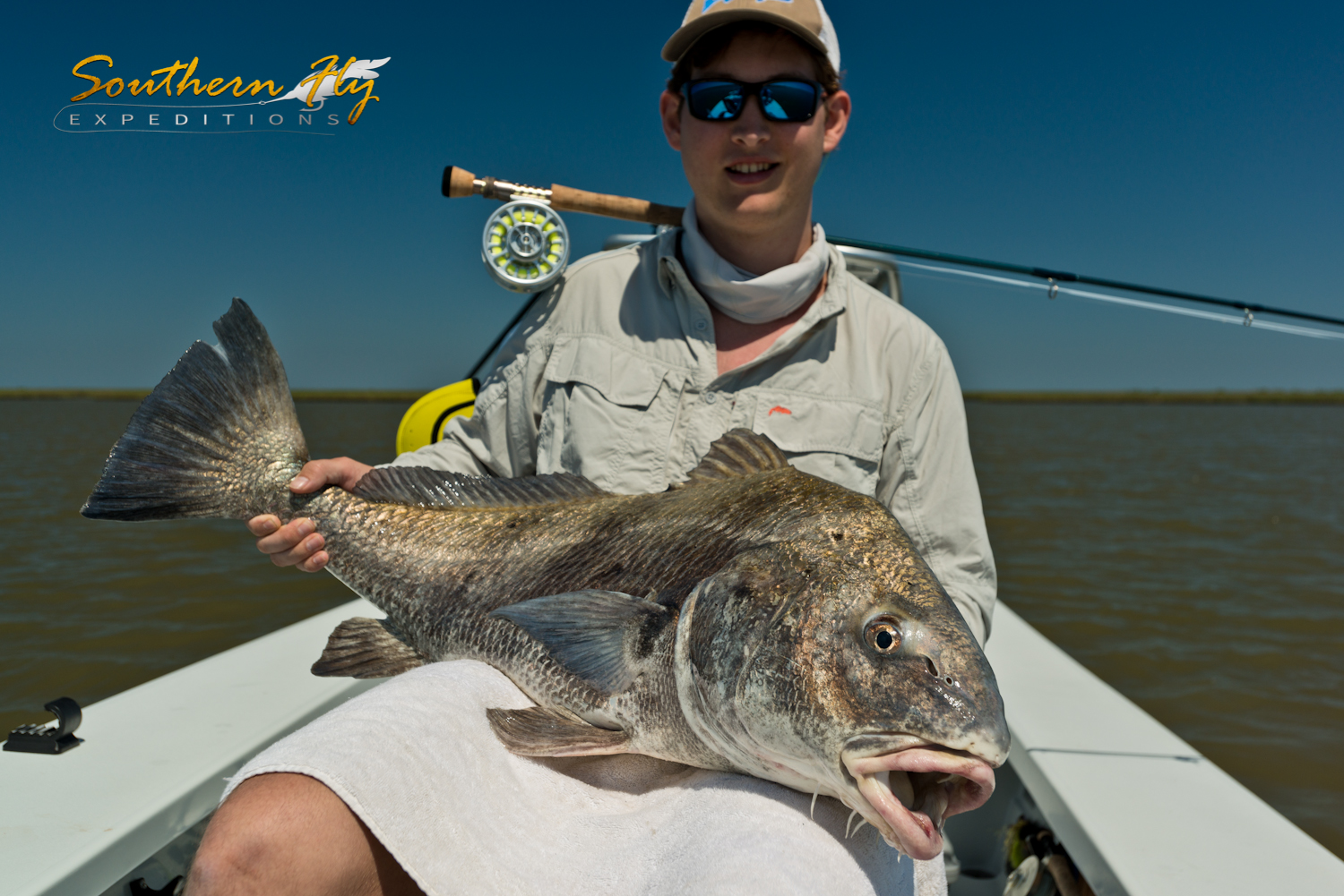 Fly Fishing for Black Drum New Orleans Louisiana with Captain Keck