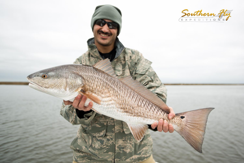 Catching a medium sized redfish