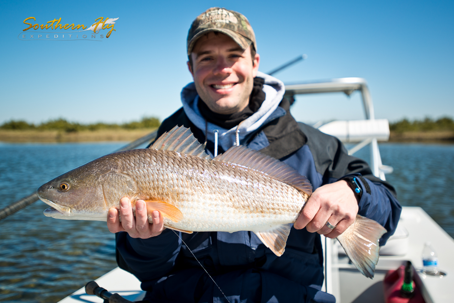 Skiff Red Fishing Louisiana New Orleans Fishing with Southern Fly Expeditions