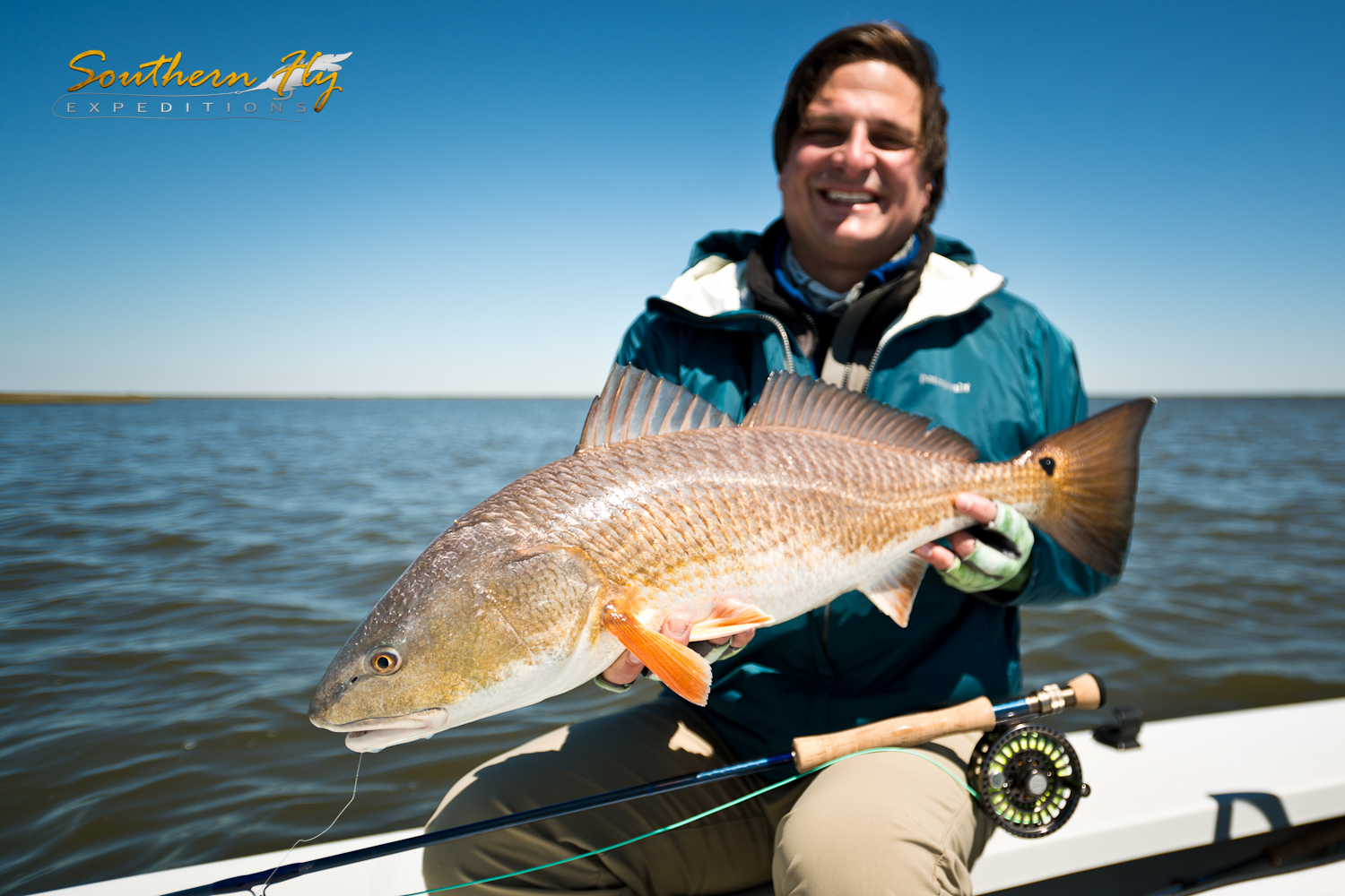 Salt water fly fishing Red Drum with Southern Fly Expeditions Fishing New Orleans